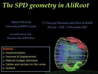 The SPD geometry in AliRoot