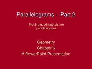 Parallelograms   Part 2
