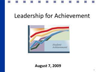 Leadership for Achievement