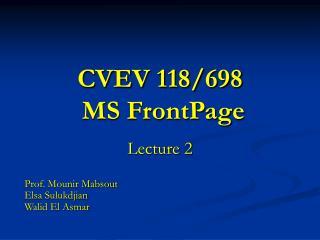 CVEV 118