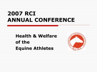 2007 RCI  ANNUAL CONFERENCE