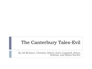 The Canterbury Tales-Evil