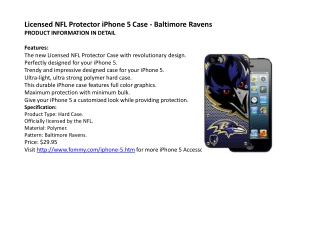 Licensed NFL Protector iPhone 5 Case - Baltimore Ravens