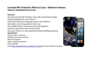 Licensed NFL Protector iPhone 5 Case - Baltimore Ravens