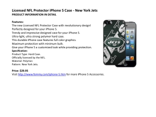 Licensed NFL Protector iPhone 5 Case - New York Jets