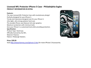 Licensed NFL Protector iPhone 5 Case - Philadelphia Eagles