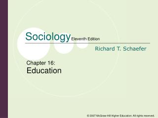 Chapter 16: Education