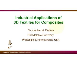 Industrial Applications of  3D Textiles for Composites