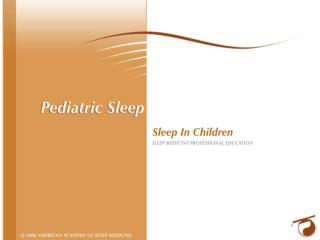 Sleep in the Pre-teen Years