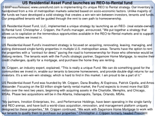 US Residential Asset Fund launches as REO-to-Rental fund