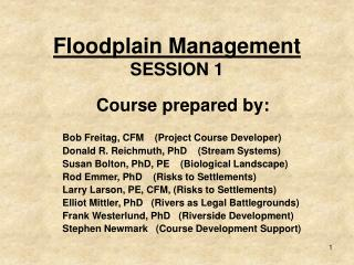 Floodplain Management SESSION 1