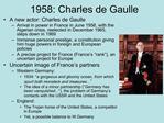 1958: Charles de Gaulle