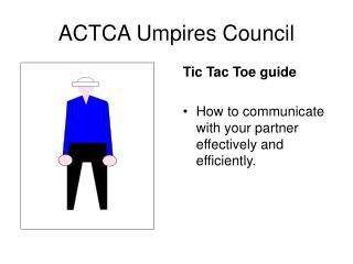 ACTCA Umpires Council