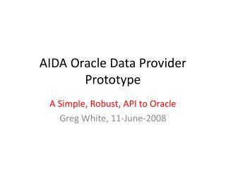 AIDA Oracle Data Provider Prototype