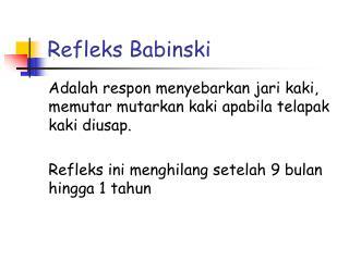 Refleks Babinski