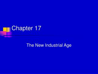 The New Industrial Age