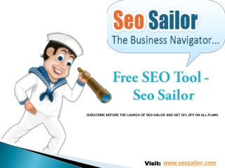 Introduction to SEO Sailor
