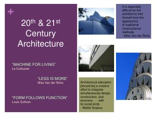 20th  21st Century Architecture