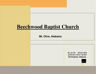Beechwood Baptist Church   Mt. Olive, Alabama