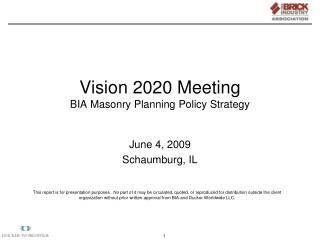 Vision 2020 Meeting BIA Masonry Planning Policy Strategy