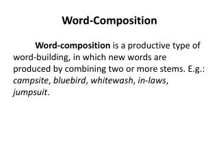 Word-Composition