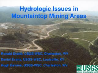 Hydrologic Issues in  Mountaintop Mining Areas