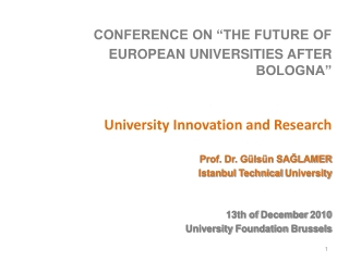 MOVING BOLOGNA BEYOND 2010: key challenges for a University in a Small State