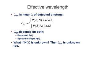 Effective wavelength