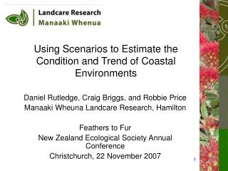 Using Scenarios to Estimate the Condition and Trend of Coastal Environments