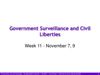 Government Surveillance and Civil Liberties