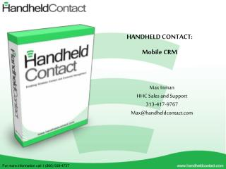 HANDHELD CONTACT: Mobile CRM