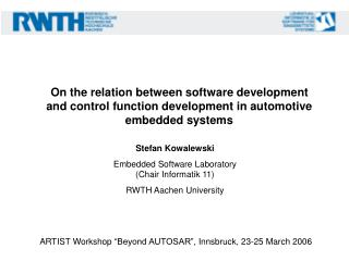 On the relation between software development and control function development in automotive embedded systems
