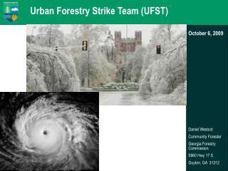 Urban Forestry Strike Team UFST