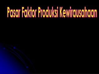 pasar produksi kewira usahawan