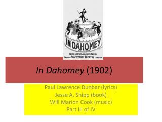 In Dahomey 1902