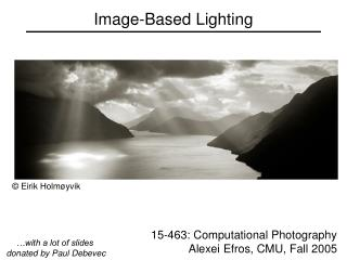 Image-Based Lighting