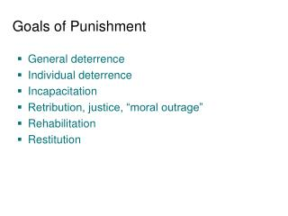 Goals of Punishment