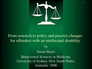 From research to policy and practice changes for offenders with an intellectual disability