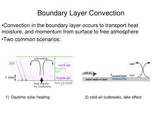 Boundary Layer Convection