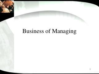Business of Managing