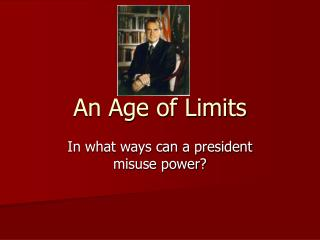 An Age of Limits