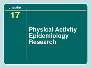 Physical Activity Epidemiology Research