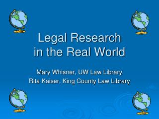 Legal Research in the Real World