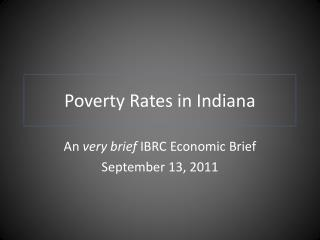 Poverty Rates in Indiana