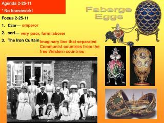 Focus 2-25-11 Czar  serf  The Iron Curtain