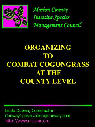 Marion County  Invasive Species  Management Council