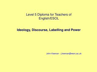 Level 5 Diploma for Teachers of English