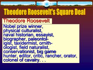 Theodore Roosevelts Square Deal