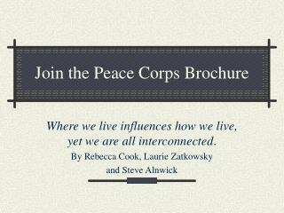 Join the Peace Corps Brochure
