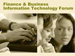 Finance  Business Information Technology Forum